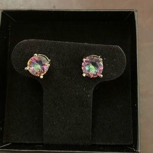 New! Mystic Rainbow Topaz Earrings